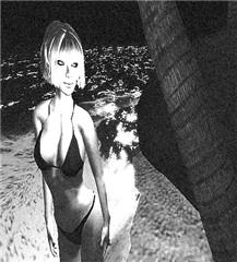 B&W bikini beach