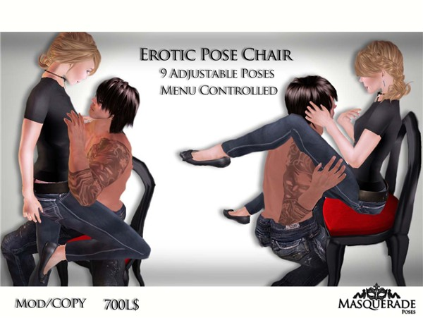 Masquerade Erotic Pose Chair