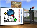 The VWBPE logo on screen at the Faire venue - Chimera Cosmos