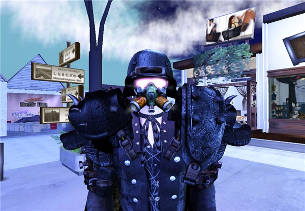 Mr. Nightbefore Dayafter as a mercenary, close portrait