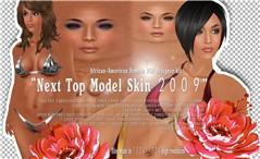 TK top model skin african-american psd kit poster 01