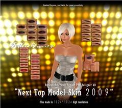 TK top model skin african-american psd kit poster 02
