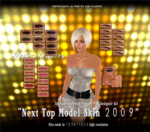 TK top model skin african-american psd kit poster 02