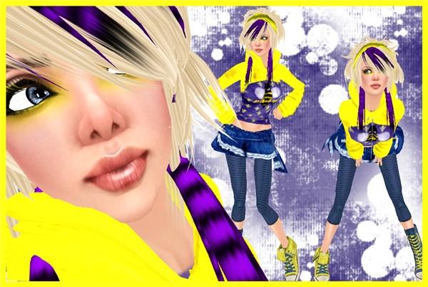Yellow and purple cuteness!