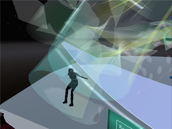 Chimera twirls in her new Skydancer Cascades - Chimera Cosmos