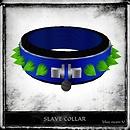 Slave Collar - Blue Neon-U