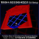 Tron Recognizer DJ Setup - Ravelong DJ Booth