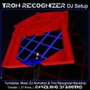Tron Recognizer DJ Setup - Ravelong DJ Booth