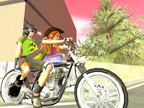 Riding motorcycle with Toxic Menges - Opensource Obscure