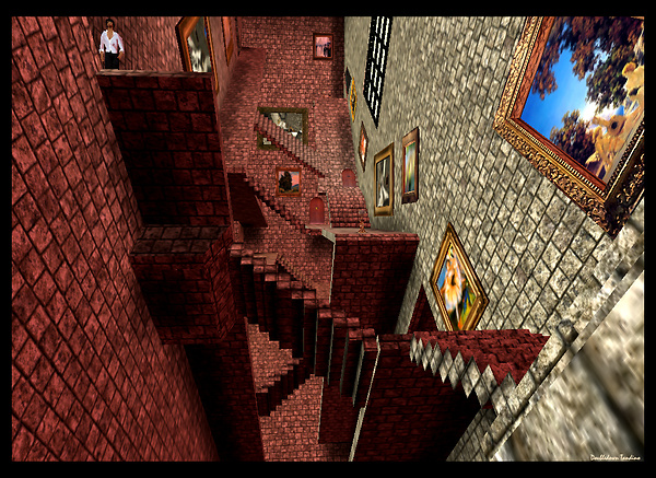 Colin Fizgig's Hogwarts-meets-Escher build - 2