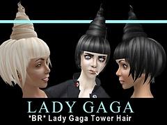 *BR* Lady Gaga Tower Hair