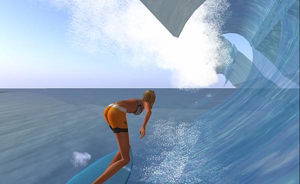 surfing heather's waves