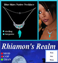 Blue Skies Turquoise Necklace Ad
