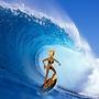 Blondie surf's up!