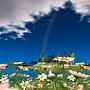 Big rainbow after the heavy rain
