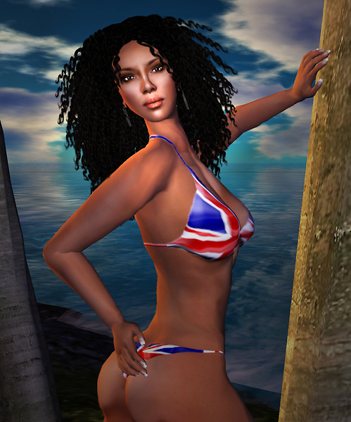 Bikini shoot at Cocos Island 1
