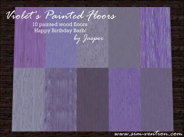 Violet's Painted Floors