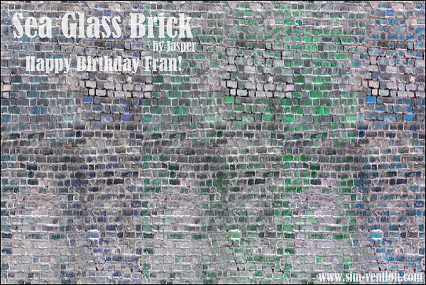 Sea Glass Brick Walls