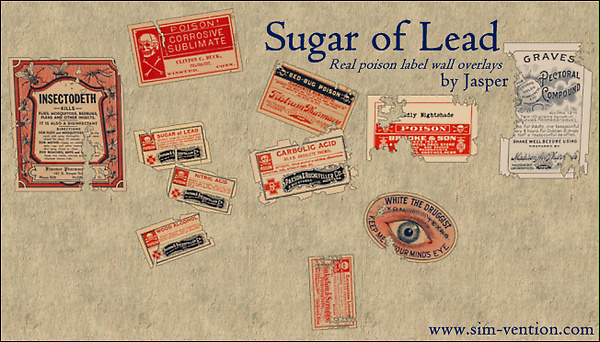 Sugar of Lead - Real Poison Wall Overlays