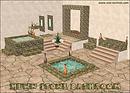 Hewn Stone Bathroom