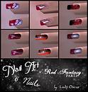 red fantasy - 6 nails