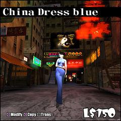China Dress blue
