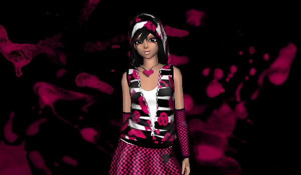 Frenzoo 3D avatar styling community emo comp winner look
