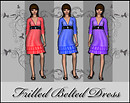 Frenzoo 3D avatar styling Sheeana's boutique Frilled Belted Dress
