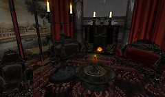 Some really neat furniture at Fantasy Fair Vamp/Goth area - Lorimae Undercroft
