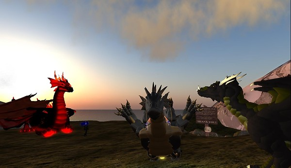 dragon avatars in virtual worl...