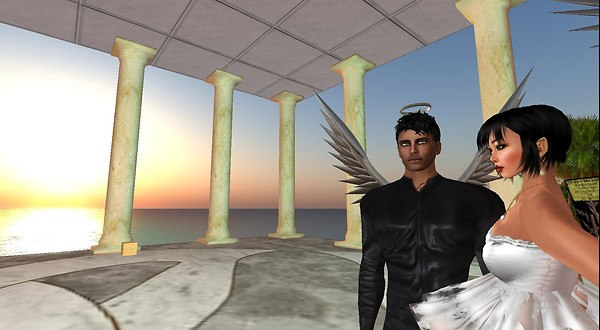 xavi, rafee in virtual world of second life