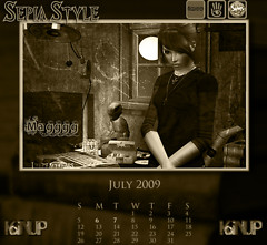 July Calendar SepiaStyle Group