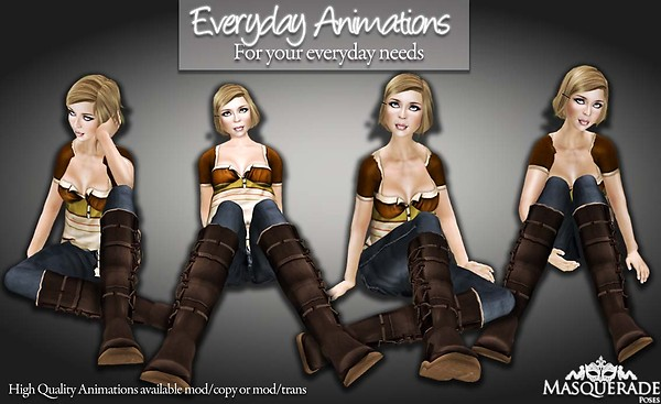 Masquerade Poses - Everyday Animations 2