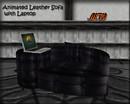 Animated Leather Sofa W/LapTop