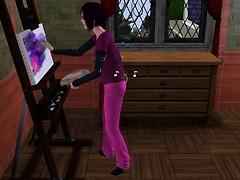 Bella paints