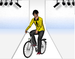 Bike Fashion show featuring me!