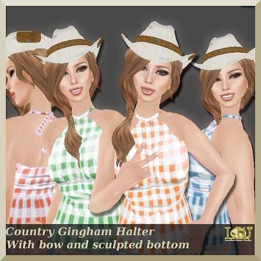 Country Gingham Halter by LW*