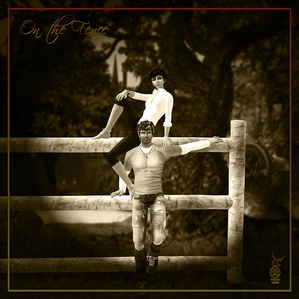 On the Fence - couples pose