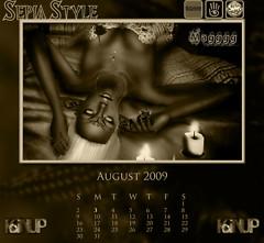 August Calendar SepiaStyle