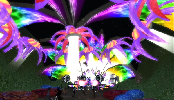flower sculpture at teknival f...