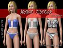 Jeans corset
