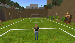 Playing soccer in Morocco
