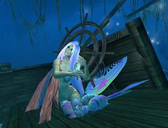 Ko brushing her hair on Shipwrecked deck