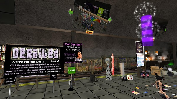 derailed party in second life