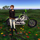 Melli and green bike