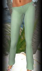 Hula linen pants green