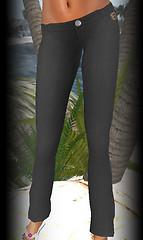 Hula linen pants black