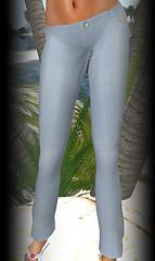 Hula linen pants blue
