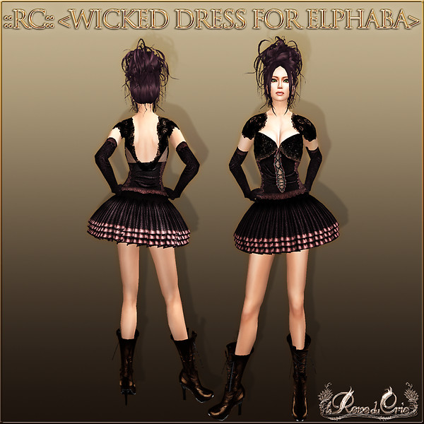 *+Crie Style+* ::RC::<WICKED DRESS FOR ELPHABA>
