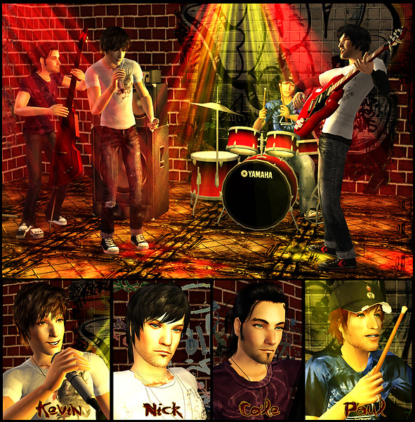 Kevin and his music-band